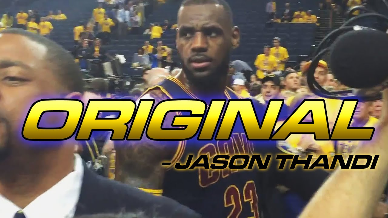 original*nba finals postgame - disrespectful warrior fan . lebron