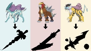 Pokemon as Weapons Requests #6: Legendary Beasts - Entei, Suicune, Raikou