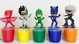 Pj Masks Wrong Heads Toys, Pj Masks Learn Colors hand paint for Kids (PJ Masks Toys #46)