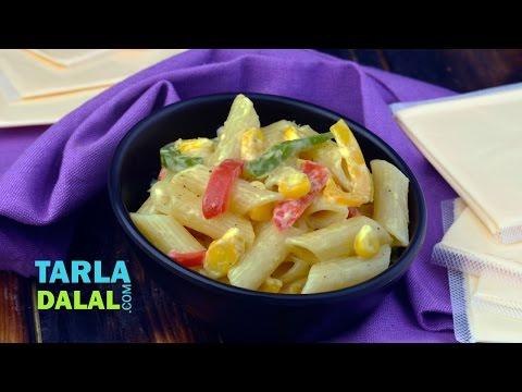 Cheesy Vegetable Pasta by Tarla Dalal