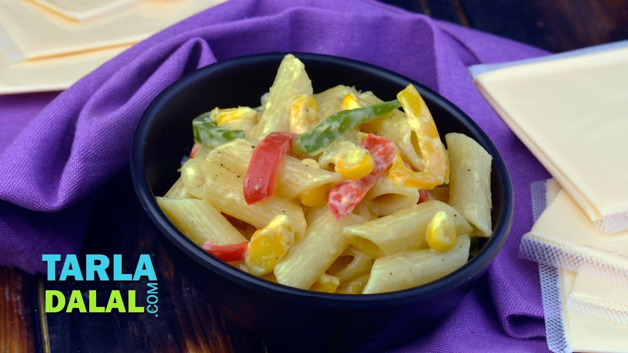 cheesy vegetable pasta cheesy vegetable pasta by tarla dalal youtube forumfinder