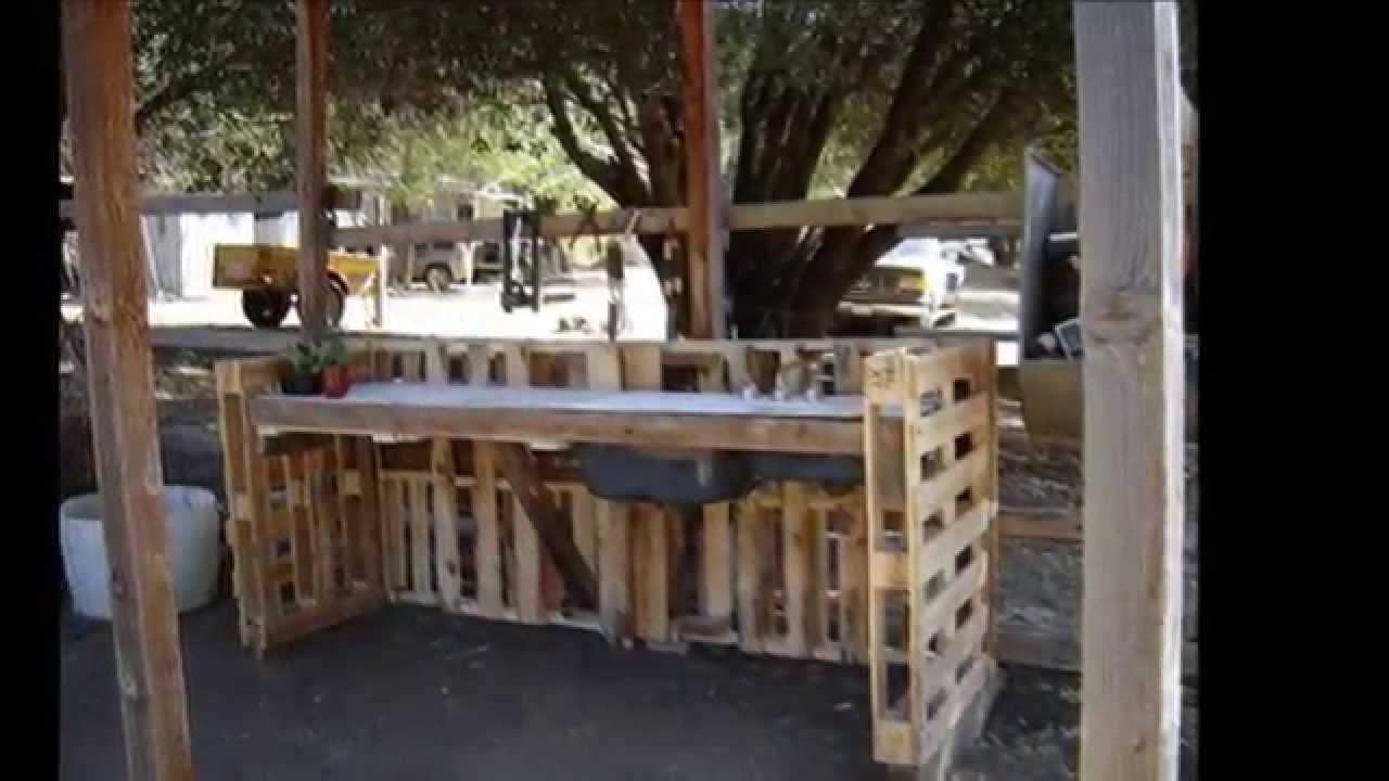 Cucina Pallet Fai Da Te le 30 migliori idee di mobili pallet per il giardino