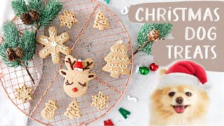 Christmas Dog treats  Eggnog flavored Dog Biscuits and Cookie Recipe