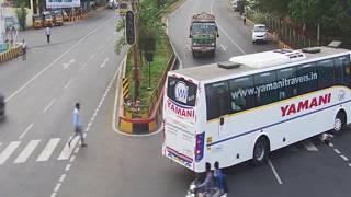 Vizag City Police - Gurudwar Junction Road Crossing Accident