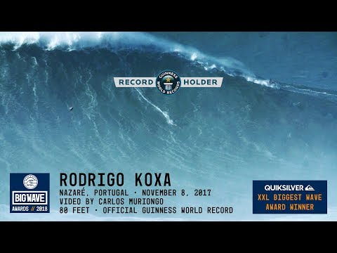Rodrigo Koxa World Record at Nazaré - 2018 Quiksilver XXL Biggest Wave Award Winner