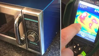 """COMPARING """"commercial"""" microwave vs """"home"""" microwave  sharp r-21lcfs 1000w"""