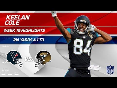 Keelan Cole's Crazy Game w/ 7 Grabs, 186 Yds & 1 TD! | Texans vs. Jaguars | Wk 15 Player Highlights