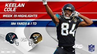 Keelan Cole's Crazy Game w/ 7 Grabs, 186 Yds & 1 TD! | Texans vs. Jaguars | Wk 15 Player Highlights