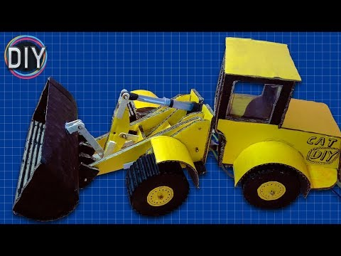 Easiest Way To Make JCB/Bulldozer From Cardboard | (DIY JCB) | The DIY channel