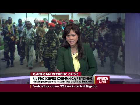 AU peacekeepers condemn C.A.R lynching