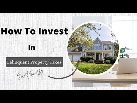 How To Profit From Delinquent Property Taxes  - Free Training For Delinquent Tax Investing