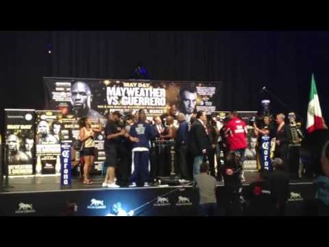 Mayweather Vs Guerrero Weigh-In Toe-to-Toe and Interviews