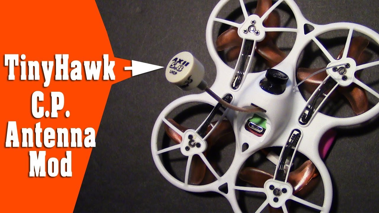 Emax TinyHawk Micro CP Antenna Mod - Does It Help with Video Breakup?