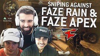 WW2 SNIPING AGAINST FAZE RAIN AND FAZE APEX!
