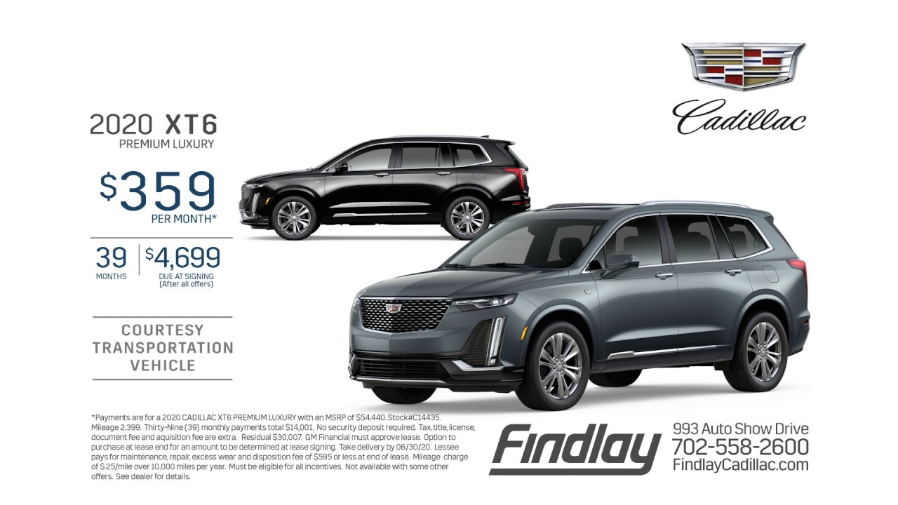 Findlay Cadillac | June 2020 Cadillac XT6 Lease Special ...