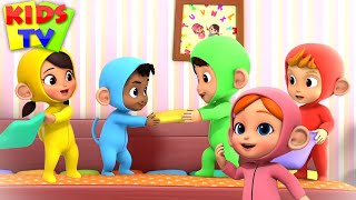 Five Little Monkeys Jumping on the Bed + More Baby Songs & Nursery Rhymes by Kids TV