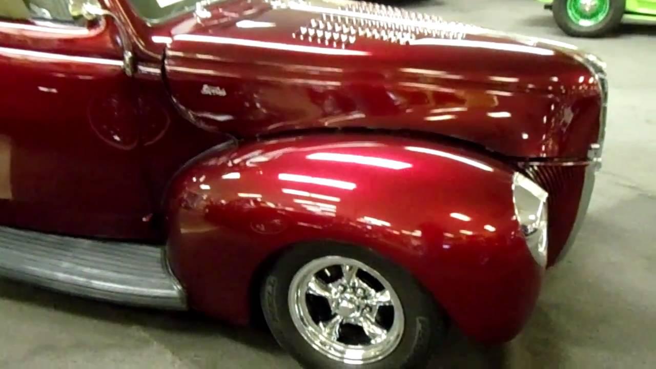 1940 Ford 2dr Sedan Candy Brandywine Hot Rod Youtube