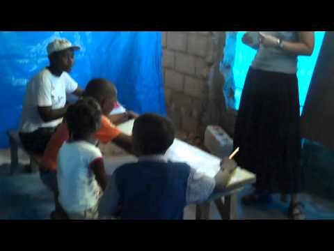 Haiti Partners Intern Kimberly Conrad at Henri Christophe School