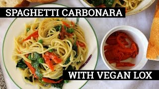 Vegan Spaghetti Carbonara with Carrot Lox | Recipe by Mary's Test Kitchen