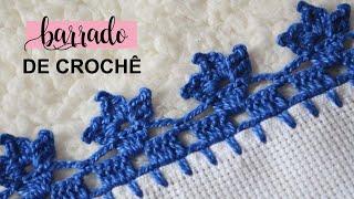 Barrado De Crochê Para Toalha De Mesa E Pano De Prato