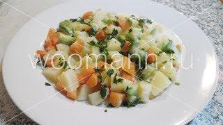 Кабачки ,морковь,картошка в молочном соусе .#Диетические рецепты