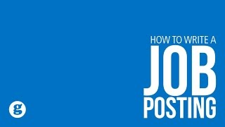 How to Write a Job Posting