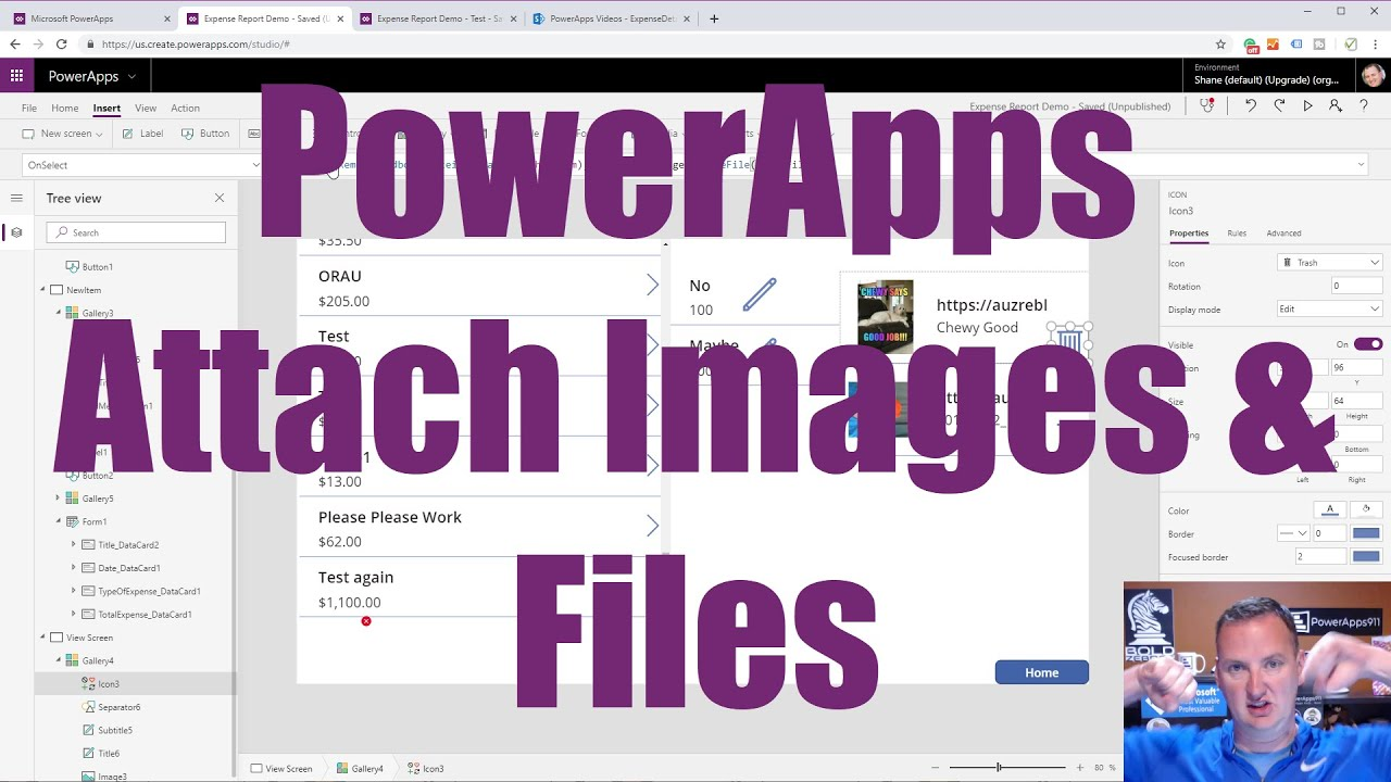 PowerApps Attachments - Saved to Azure Blob Storage with SharePoint and SQL