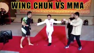 Wing Chun Kung Fu vs MMA   Xu Xiaodong