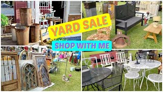 Yard Sale Shop with Me + Haul l Thrift Shopping