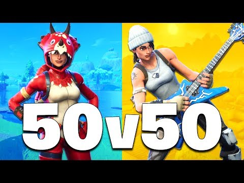 *NEW UPDATE* 50 vs 50 MODE!! (Fortnite Battle Royale)