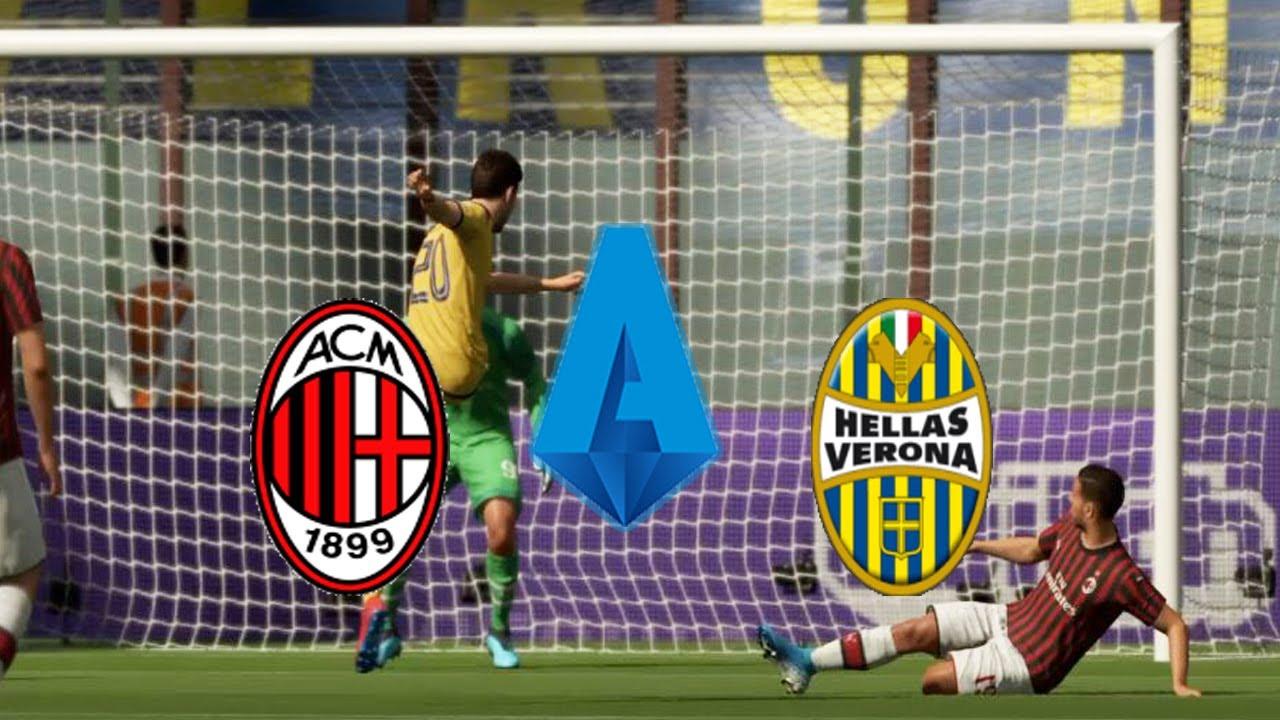 FIFA20 - Italy Serie A - Milan vs Hellas Verona @San Siro ...