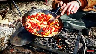 Simple Camp Cooking, Scrambled Egg Tacos For Breakfast At The Wrc 2014