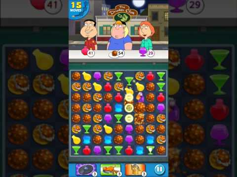 Family Guy - Another Freakin' Mobile Game : Level 34 - 3 Stars! No Boosters!