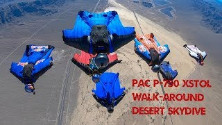 Flying the PAC-750 XSTOL Wingsuit Skydives over the Desert
