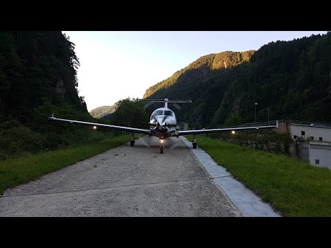 Pilatus PC12 shortest takeoff Locher Airfield