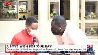 A Boys Wish for Our Day Companies individuals respond to 9-year-old boy39s list 30-7-21