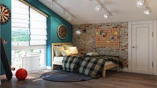 видео Дизайн комнаты подростка в стиле лофт
