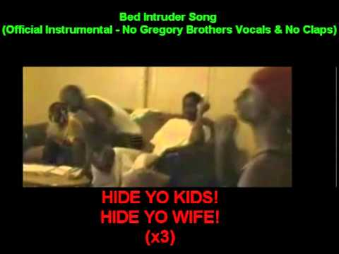 BED INTRUDER SONG!! (OFFICIAL INSTRUMENTAL [WITH NO VOCALS]) LYRICS ON SCREEN!