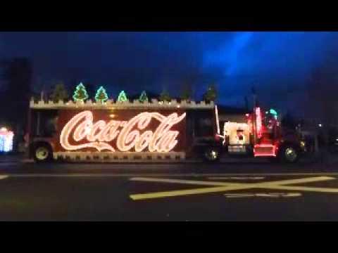 Coca Cola Truck Gangnam Style Redding Christmas Lights 2012 - YouTube