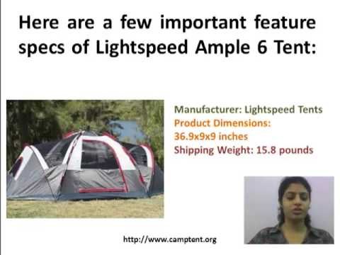 3c282e2f48 Camp Tent Reviews: Lightspeed Ample 6 Tent Review - YouTube