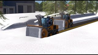Farming simulator 17 snow blowing roads after a big snow storm