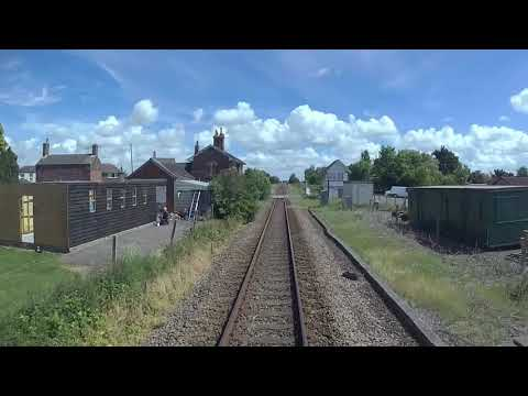 A Train Drivers View. Boston - Skegness, Lincs UK.