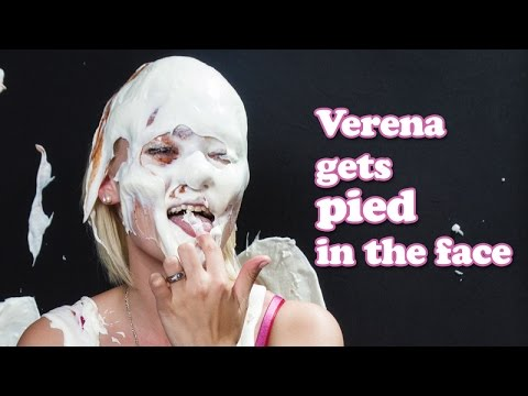 Verena gets pied in the face