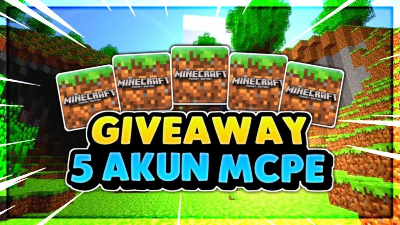 Giveaway 5 Akun Minecraft Premium Ori Gratis Youtube