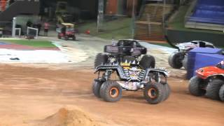 Monster Jam Brisbane 3rd October 2015 - Max D does Freestyle with a backflip