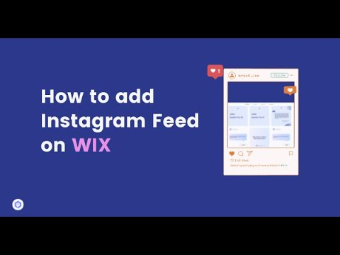 How to add Instagram feed on wix