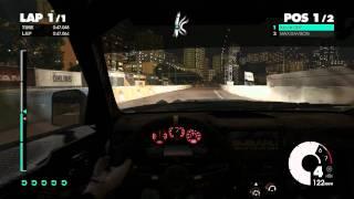 Dirt 3 gameplay PC 720P Ultra settings directx 11 GTX 560 - Monaco headsup Night race