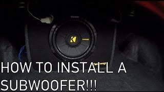 Installing A Kicker Comp 10