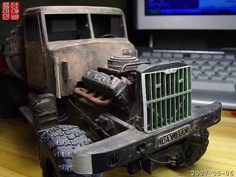 Papercraft Look! It's PAPER - paper model of KrAZ 255B