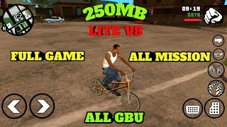 (250mb) DOWNLOAD GTA SAN ANDREAS LITE FOR ANDROID
